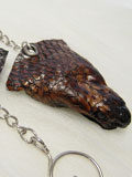 Implora Dark Brown Cobra Snake Head Keychain