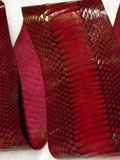 Free Shipping on Implora Red Cobra Snakeskin Belly