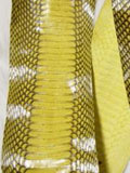 Implora Yellow Cobra Snakeskin Belly