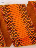 Free Shipping on Implora Orange Cobra Snakeskin Belly