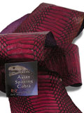 Implora Burgundy Wine Cobra Snakeskin Belly