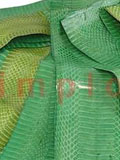 Snake Skin Scraps Pieces Assorted Green