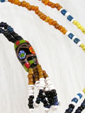 Genuine Dayaknese Stone & Glass Beads Necklace 