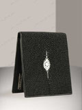 Implora Black Stingray Wallet w/ID Star Design