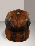 Free Shipping on Cobra Snakeskin Baseball Cap Hat Brown 2-tone