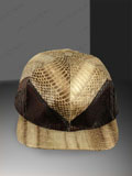 Free Shipping on Cobra Snake Skin Baseball Cap Hat Brown-Natural