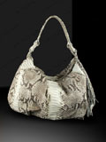 Implora Natural Python Medium Hobo Bag