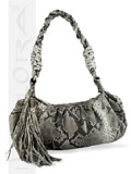 Implora Natural Python Mini Hobo Bag