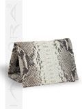 Implora Natural Python Trifold Wallet w/ID Belly