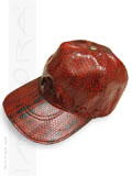 Implora Red Oriental Rat Snakeskin Baseball Cap Hat